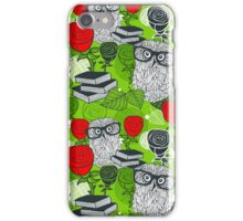Red roses and clever owls. iPhone Case/Skin