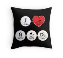 I Love Nerds Throw Pillow