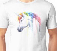 Rainbow Unicorn Watercolor Unisex T-Shirt