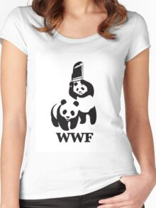 World Wide Fund for Panda Fighting  Women's Fitted Scoop T-Shirt
