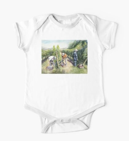 Vineyard Watercolor Painting One Piece - Short Sleeve