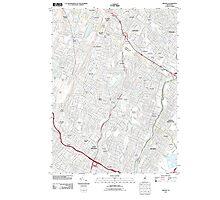 USGS TOPO Map New Jersey NJ Orange 20110412 TM Photographic Print