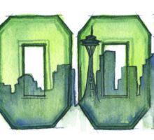Legion of Boom 12th Man Art Seattle Space Needle Sticker