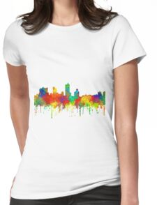 Fort Worth, Texas Skyline - SG Womens Fitted T-Shirt