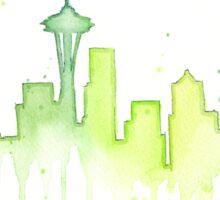 Seattle Skyline Watercolor  Sticker