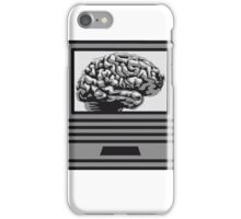computer laptop notebook pc write thinking screen mobile tablet brain iPhone Case/Skin