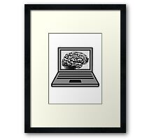 computer laptop notebook pc write thinking screen mobile tablet brain Framed Print