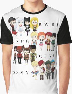 Chibi Team RWBY JNPR CFVY & SSSN Graphic T-Shirt