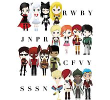 Chibi Team RWBY JNPR CFVY & SSSN Photographic Print