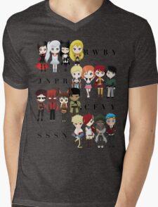 Chibi Team RWBY JNPR CFVY & SSSN Mens V-Neck T-Shirt