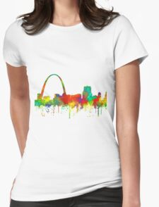 Gateway Arch, St Louis, Missouri Skyline - SG Womens Fitted T-Shirt