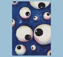 Blue Monster Eyeballs Kids Tee