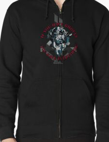 IF YOU HAVE GHOULS, YOU HAVE EVERYTHING - blue chrome Zipped Hoodie