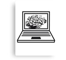 computer laptop notebook pc write thinking screen mobile tablet brain Canvas Print