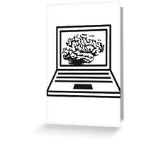 computer laptop notebook pc write thinking screen mobile tablet brain Greeting Card