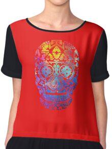 skull Chiffon Top