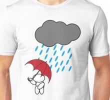 Man in the rain Unisex T-Shirt