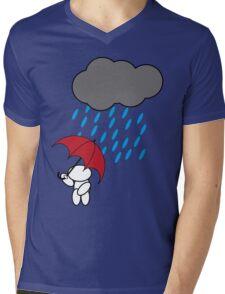 Man in the rain Mens V-Neck T-Shirt