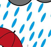 Man in the rain Sticker