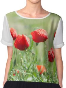 Wild poppy flowers Chiffon Top