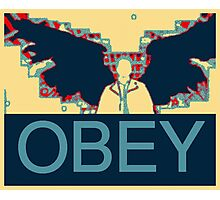 Supernatural Castiel Obey  Photographic Print