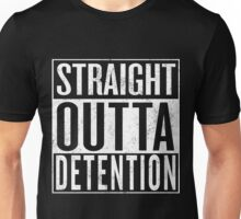 STRAIGHT OUTTA DETENTION T-shirt / Vintage Look Unisex T-Shirt