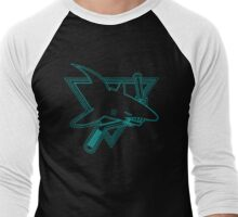 Opening Night Laser Light Shark Men's Baseball ¾ T-Shirt