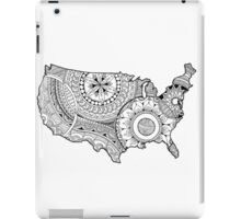 Zentangle USA map Black and White iPad Case/Skin