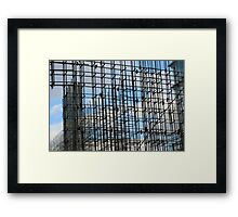 Building of steel reinforcement   Framed Print