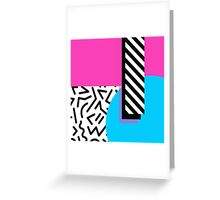 Colorful Retro Memphis Abstract Greeting Card