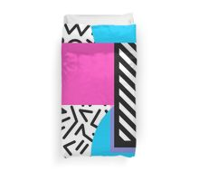 Colorful Retro Memphis Abstract Duvet Cover