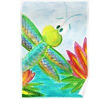 Sunshine Coast Dragonfly Poster