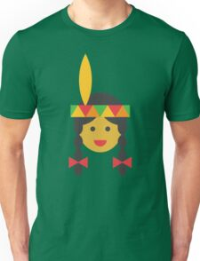 a native american girl Unisex T-Shirt