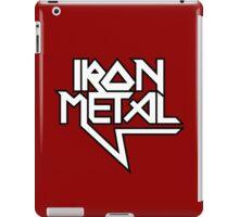 Iron Metal (black white) iPad Case/Skin