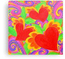 Passion Hearts Canvas Print