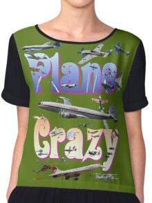 Plane Crazy T-shirt - for those obsessed with aircraft Chiffon Top