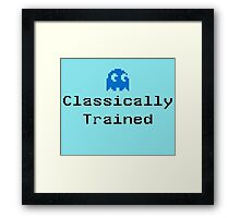 Classically Trained - 80s Computer Gamer T-Shirt Sticker Framed Print
