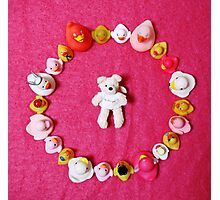 Angel Bear in Duck Blessing Circle, from above Photographic Print