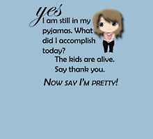 Say I'm pretty! Womens Fitted T-Shirt