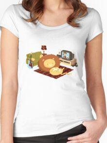 REZEEW : HOME LIKE ZOO Women's Fitted Scoop T-Shirt