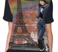 Brick wall scene Chiffon Top