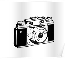Retro Camera - Photographer T-Shirt Sticker Poster