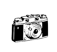 Retro Camera - Photographer T-Shirt Sticker Photographic Print