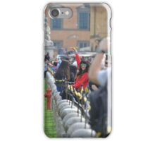 Lady in red: posing in Pisa iPhone Case/Skin