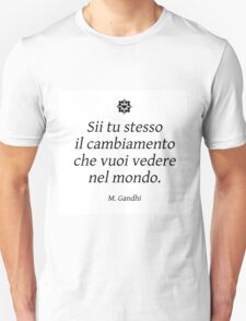 Gandhi white Unisex T-Shirt
