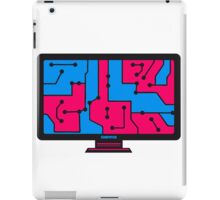 colorful wire connections data microchip electronically screen tv pc computer display image design iPad Case/Skin