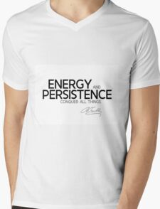 energy and persistence - benjamin franklin Mens V-Neck T-Shirt