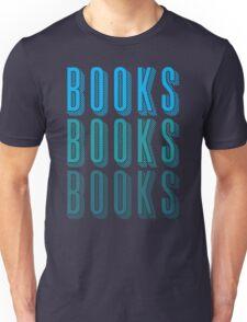 BOOKS BOOKS BOOKS in blue Unisex T-Shirt