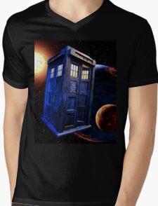 Time Flight 3 Mens V-Neck T-Shirt