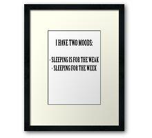 Two Moods Framed Print